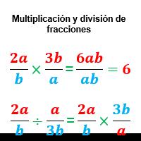 multiplicacion y division fracciones