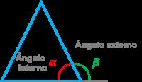 Suma de ángulo externo e interno