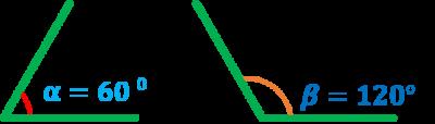 ángulos suplemenarios ejemplo