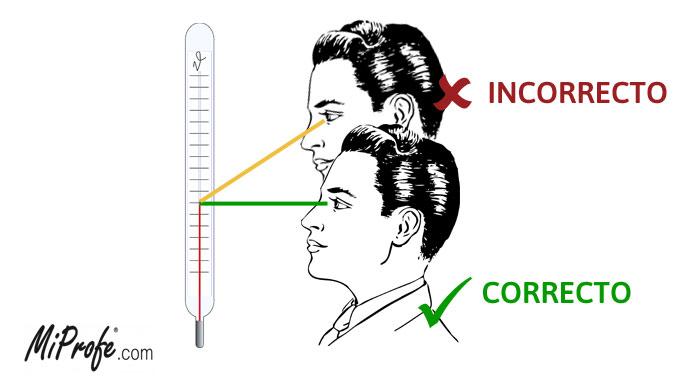Errores en la medición - paralaje