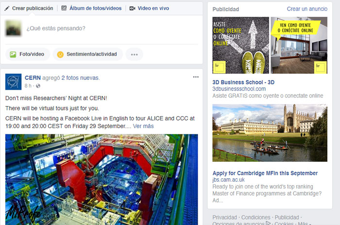 Publicidad en Internet - Facebook