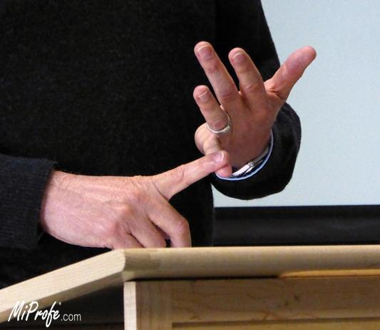 El lenguaje corporal - contar con los dedos