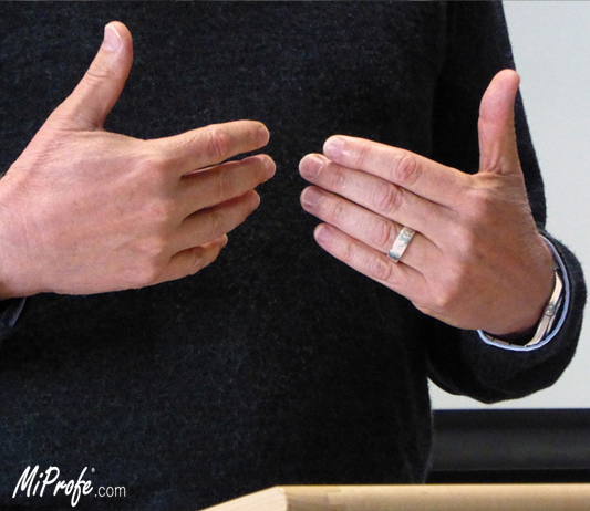 body language and hands