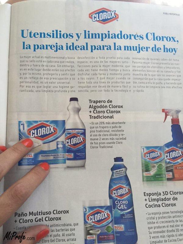 Publicidad y sus regulaciones - ejemplo
