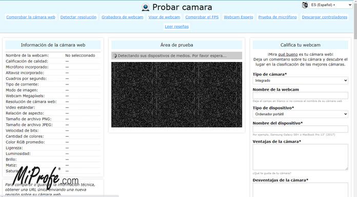 Webcamtests